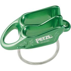 Petzl Reverso Dispositivo asegurador, green